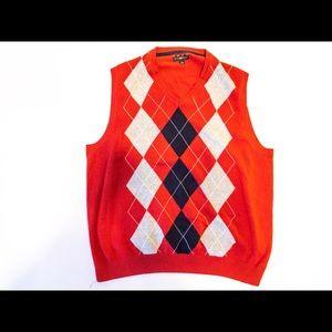 📚 Club Room Argyle Sleeveless Vest Sweater SZ L